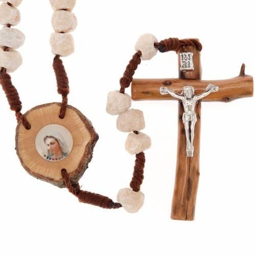 Rosario Medjugorje piedra madera y cuerda s1