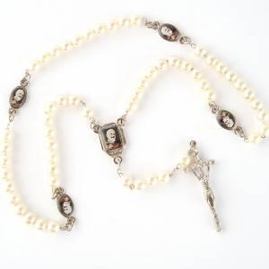 Rosarios símil perla: Rosario símil perla imágenes diám. 14