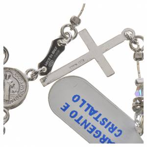Rosary beads in 800 silver and transparent crystal s6