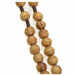 Wood rosaries: Rosary beads in Holy Land olive wood, with Jerusalem cross and m