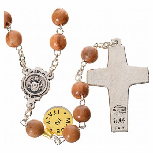 Rosary beads in olive wood, Pope Francis s2