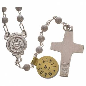 Rosary beads in silver Good Shepherd cross Pope Francis 0,16in s2