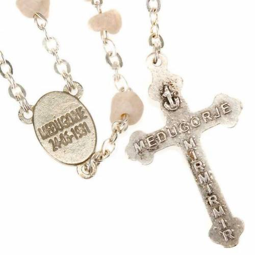 Rosary beads Medjugorje stone Mary and Jesus s2