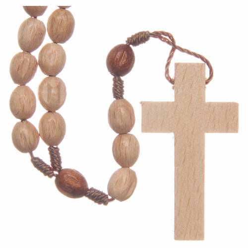 Rosary in Medjugorje wood with natural grains s2