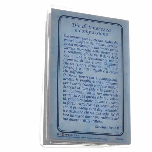 Rosary Leaflet St John Paul II image 6,5x9,5cm s5