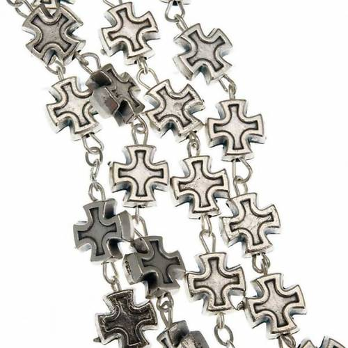 Rosary with metal cross-shaped beads (7 mm) s4