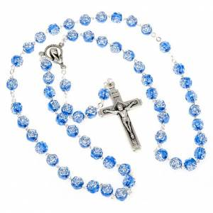 Rosary with rose-shaped beads s2