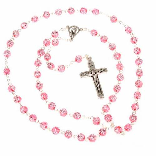 Rosary with rose-shaped beads s3