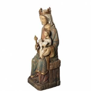 Rosay Virgin statue, 60 cm in painted wood, Bethléem s3