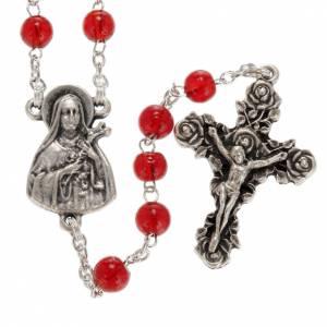 Ghirelli Collection Rosenkränze: Rosenkranz Ghirelli Therese von Lisieux roten Glas