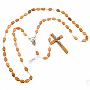 Holz Rosenkränze: Rosenkranz Oliven-Holz, ovalen Perlen