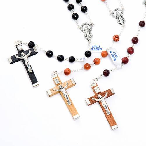 Round bead coconut rosary s1