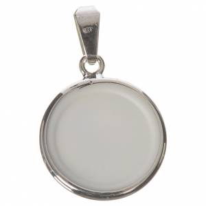 Round medal in silver, 18mm Our Lady Untier of Knots s2