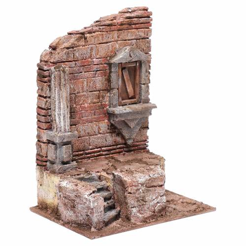 Rovine ingresso al tempio 25x20x15 cm presepe s3
