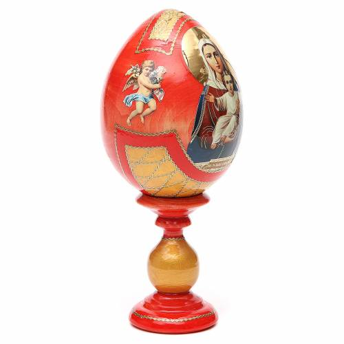 Russian Egg I'm with you découpage, Fabergè style 20cm s4