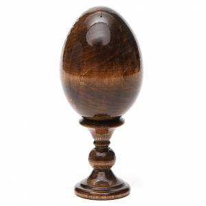 Russian Egg St. Nicholas green background découpage 13cm s3