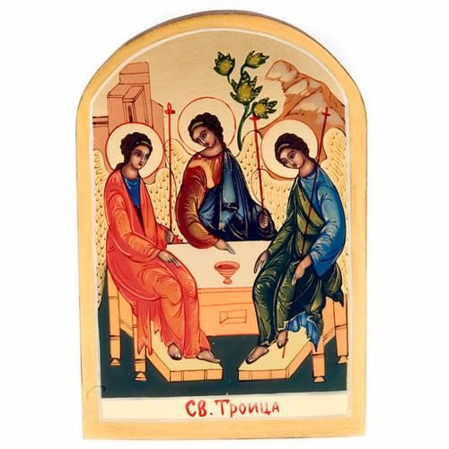 Russian icon, Holy Trinity, Rublev 6x9cm s1