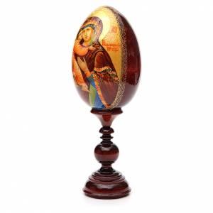 Handgemalte Russische Eier: Russische Ei-Ikone Gottesmutter von Wladimir 36cm HANDGEMALT