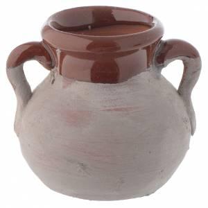 Home accessories miniatures: Rustic ceramic pot 4 cm for nativity scene