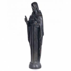 Sacré-Coeur de Jésus 100 cm pâte à bois fin. bronze s2