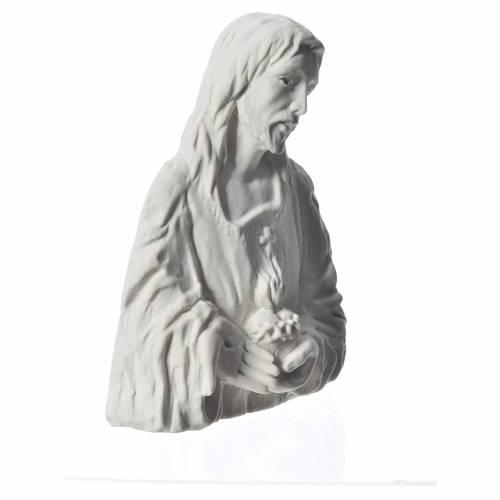 Sacré Coeur de Jésus bas relief 18 cm marbre s2