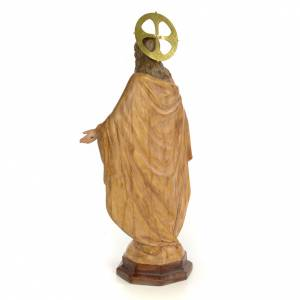 Sacred Heart of Jesus statue 50cm, wood paste, burnished decorat s3