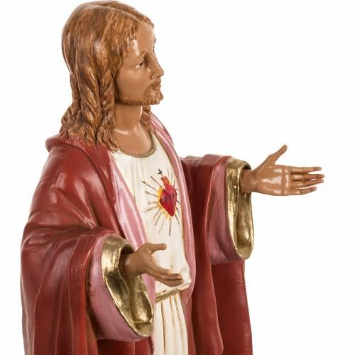 Sacro Cuore di Gesù 40 cm resina Fontanini s4