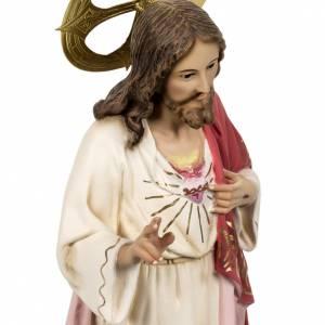 Sacro Cuore di Gesù 80 Cm pasta di legno dec. elegante s4