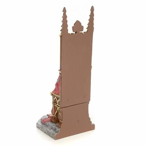 Sacro Cuore di Gesù in trono 30 cm dec. elegante s3