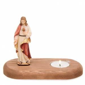 Sagrado Corazón de Jesús con vela s1