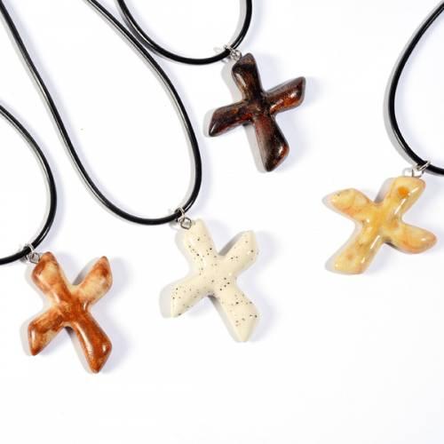 Saint Andrew's clay cross pendant s1