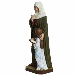 Saint Anne statue, 80cm in painted reconstituted marble s5