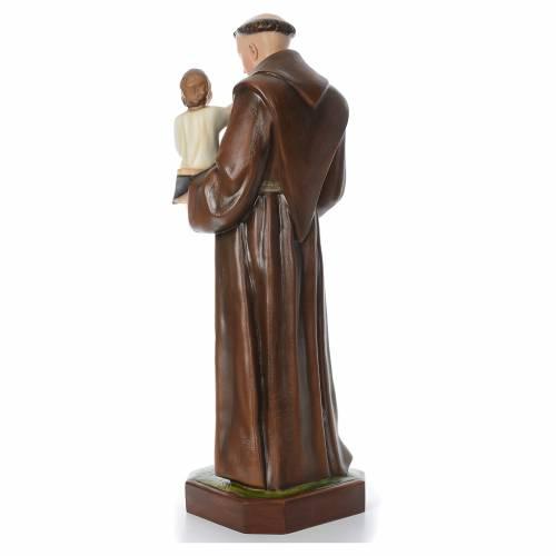 Saint Anthony of Padua, statue in coloured fiberglass, 130cm s3