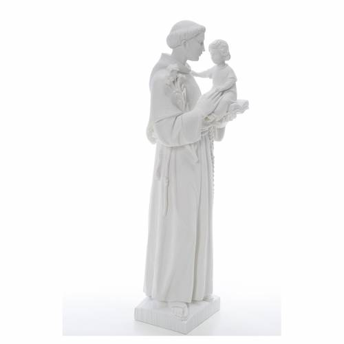 Saint Anthony statue in reconstituted Carrara marble, 65 cm s4