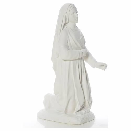 Saint Bernadette statue in reconstituted carrara marble, 67 cm s4