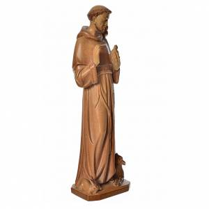 Saint Francis of Assisi statue in multi-patinated Valgardena woo s2