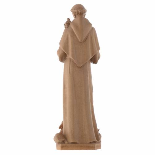 Saint Francis of Assisi statue in patinated Valgardena wood s4