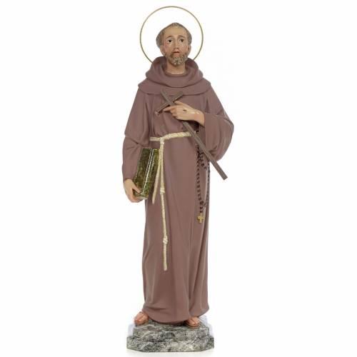Saint François d'Assise 50 cm fin. simple pâte à bois s1