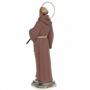 Saint François d'Assise 50 cm fin. simple pâte à bois s3