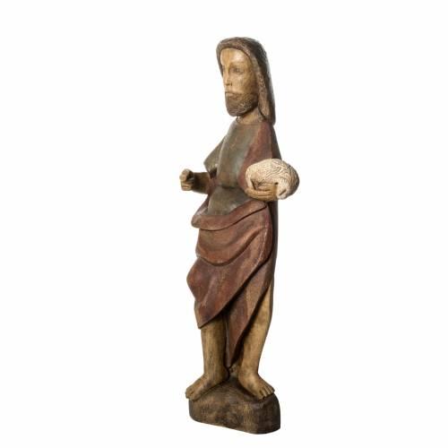 Saint Jean Baptiste 89 cm bois peint Bethléem s3