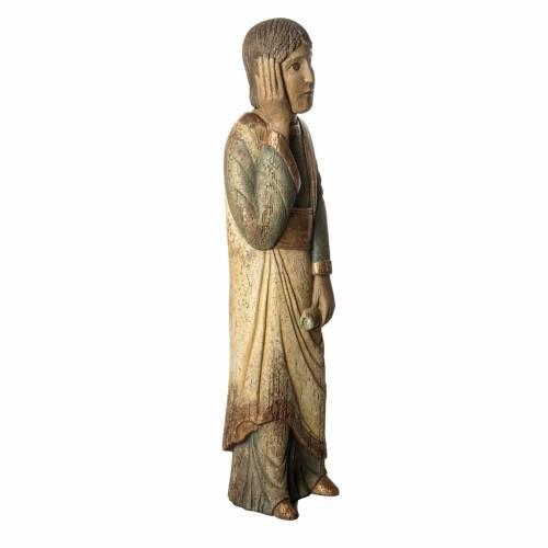 Saint John of Batllo statue, 78 cm in painted wood, Bethléem s2