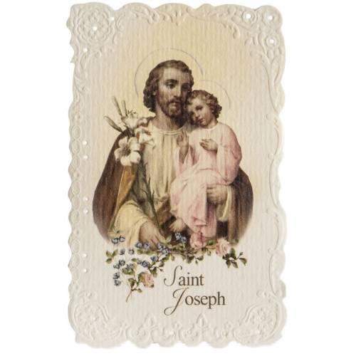 Saint Joseph holy card with prayer in ENGLISH s1