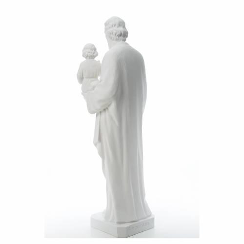 Saint Joseph Statue in Reconstituted Carrara Marble 100 cm s3