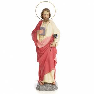 Hand painted wooden statues: Saint Judas Thaddaeus 60cm, wood paste, fine decoration