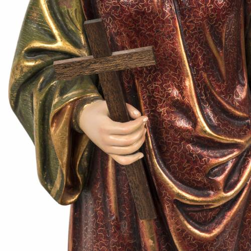 Saint Margaret statue 60cm in wood paste, extra finish s3