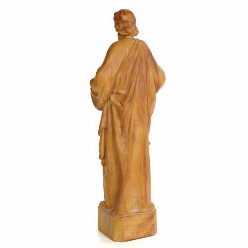 Saint Matthieu 60 cm pâte à bois finition brunie s3