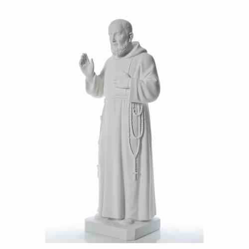 Saint Père Pio poudre de marbre 110 cm s2