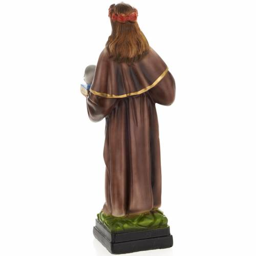 Saint Rosalia statue in plaster, 30 cm s4