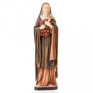 Hand painted wooden statues: Saint Therese