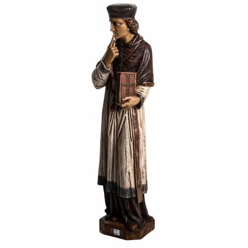 Saint Yves in stone, wood finish, Bethléem 63cm s3